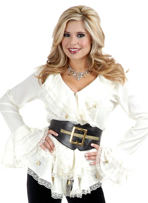 9b9b1fd38b060c Pirate costume: double ruffled blouse white, costume-ch-02310W,upc:726123023107,charades,double  ruffled blouse white;2310W
